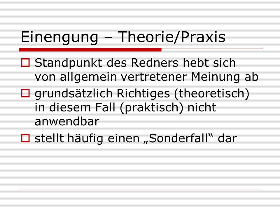 Einengung – Theorie/Praxis