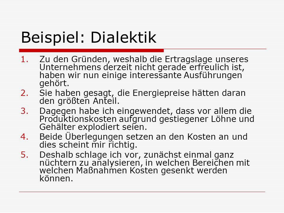 Beispiel: Dialektik