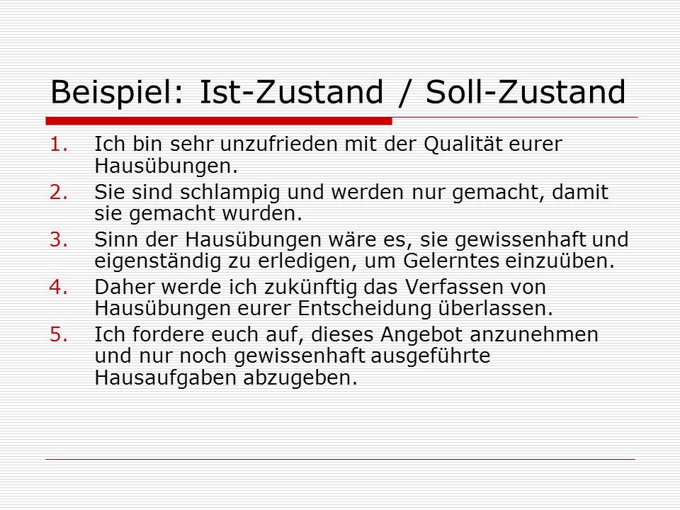 Beispiel: Ist-Zustand / Soll-Zustand