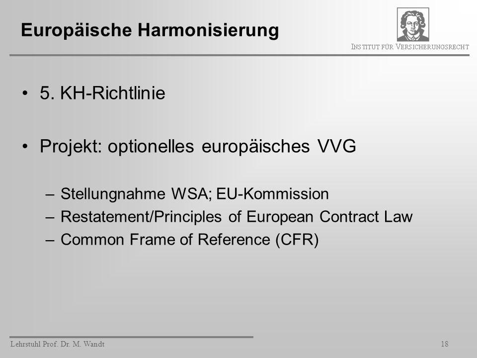 Europäische Harmonisierung