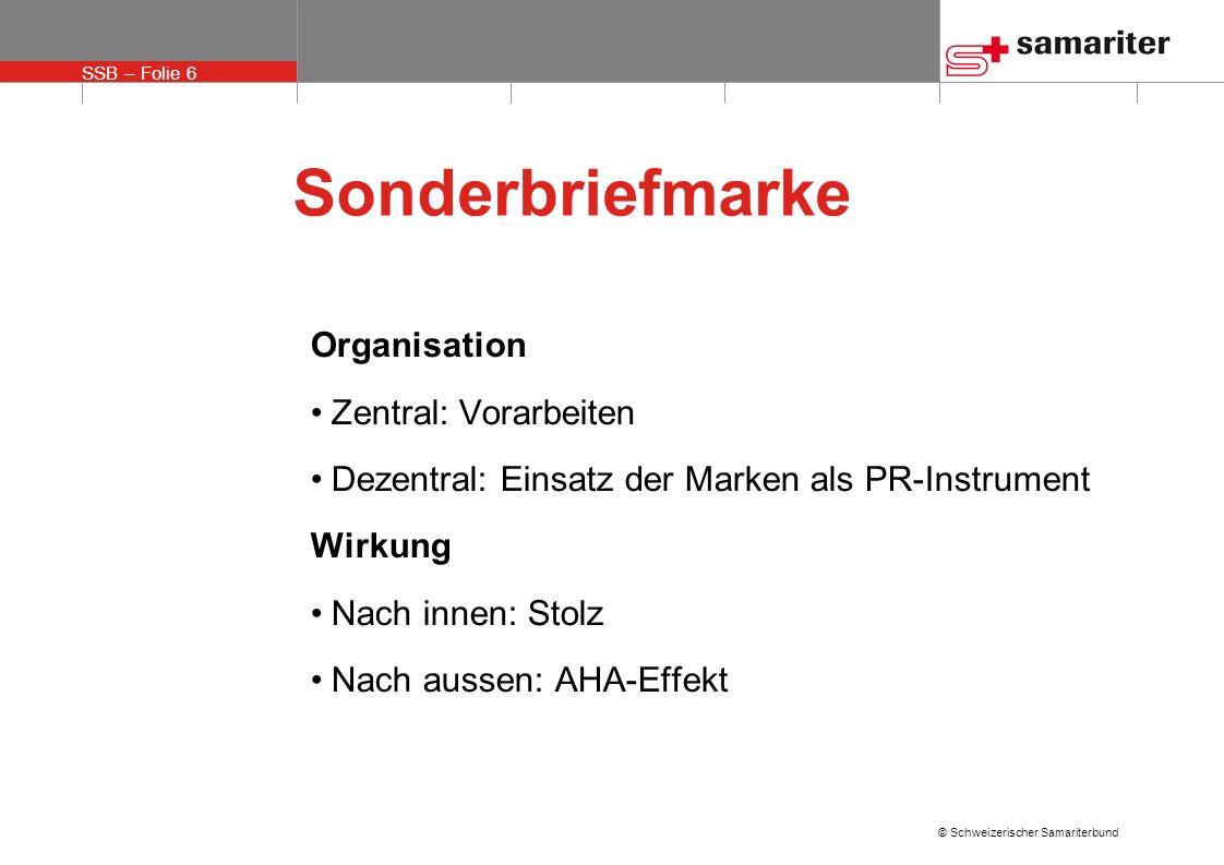 Sonderbriefmarke Organisation Zentral: Vorarbeiten