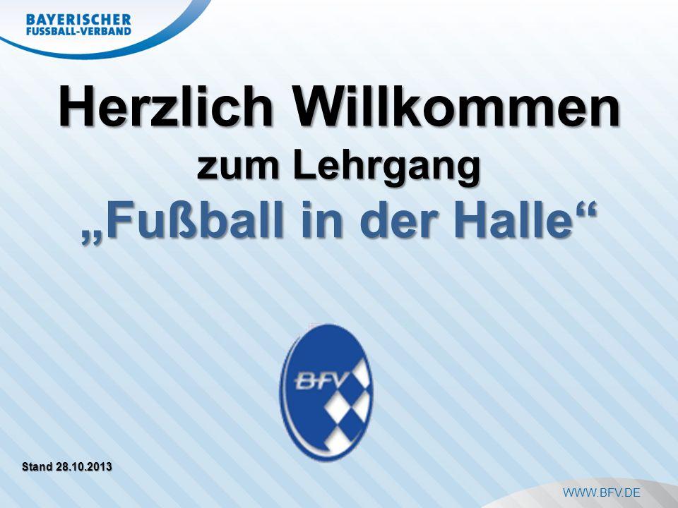 """Herzlich Willkommen """"Fußball in der Halle zum Lehrgang"""