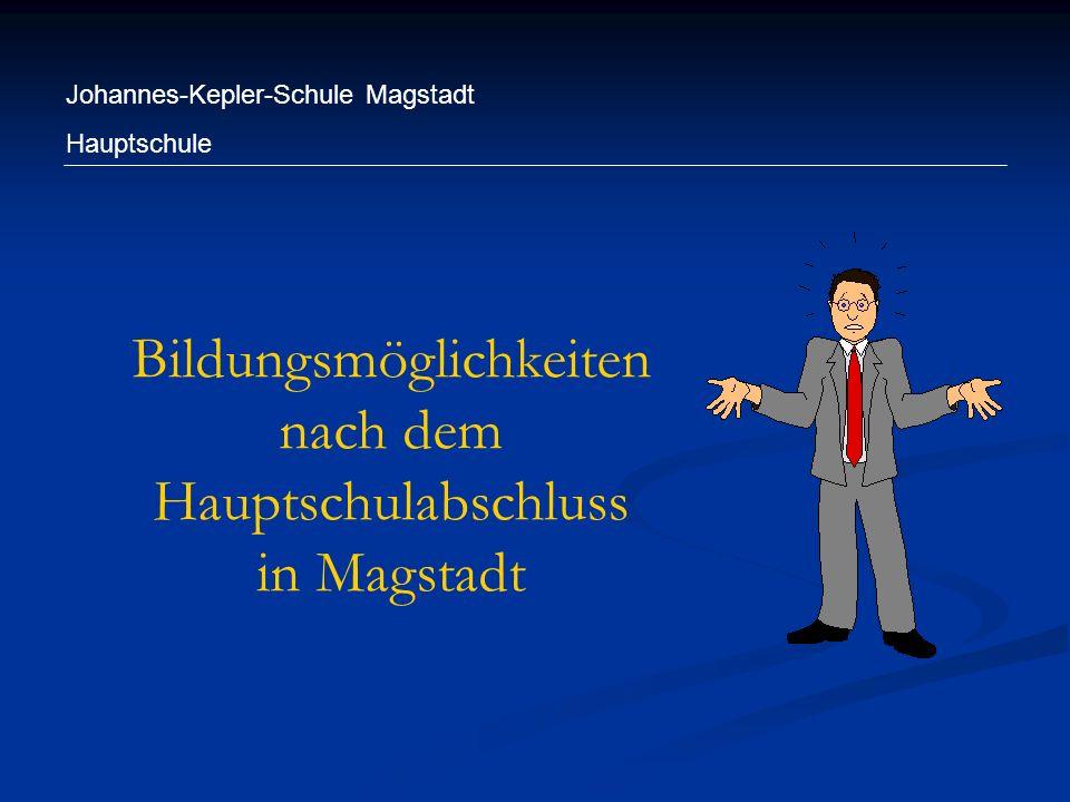 Bildungsmöglichkeiten nach dem Hauptschulabschluss in Magstadt