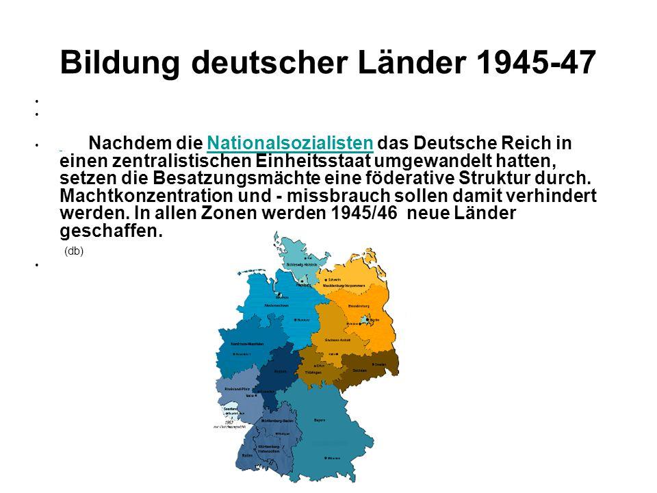 Bildung deutscher Länder 1945-47