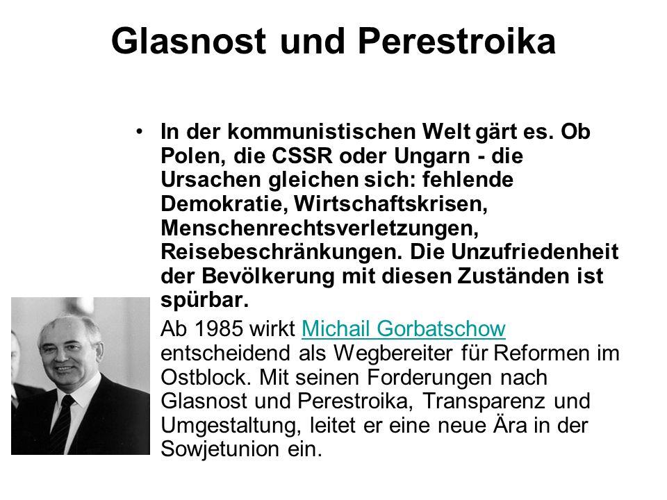 Glasnost und Perestroika
