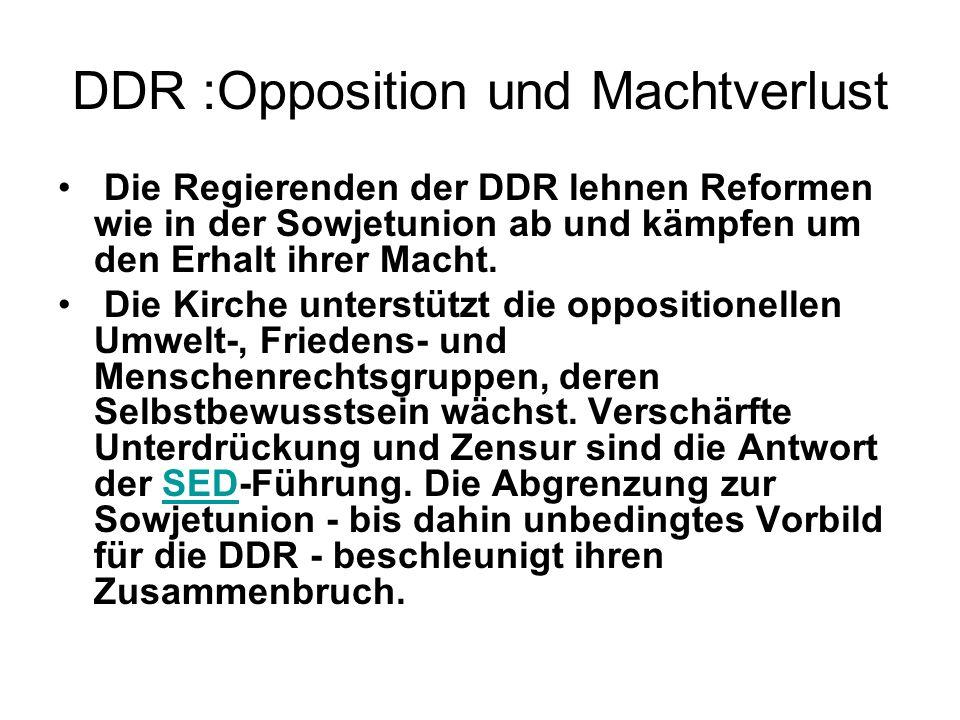 DDR :Opposition und Machtverlust