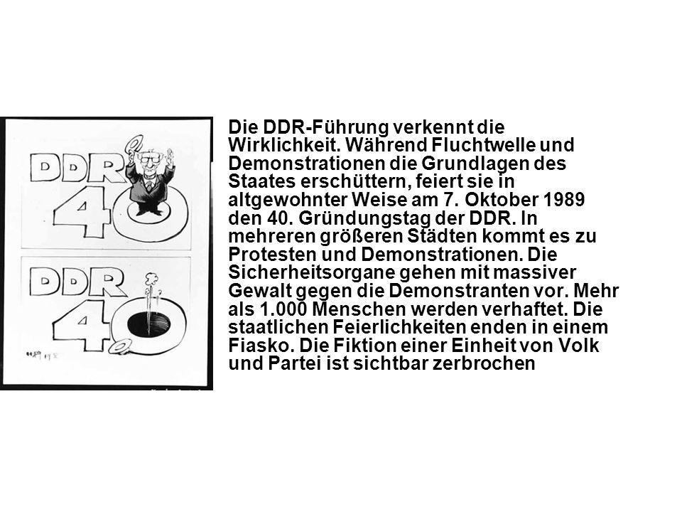 Die DDR-Führung verkennt die Wirklichkeit