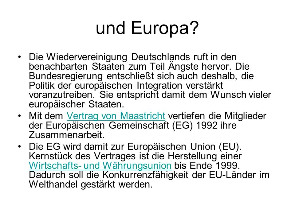 und Europa