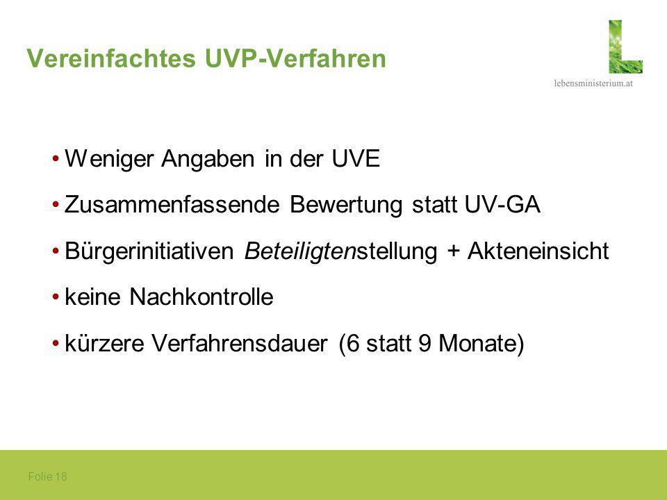 Vereinfachtes UVP-Verfahren