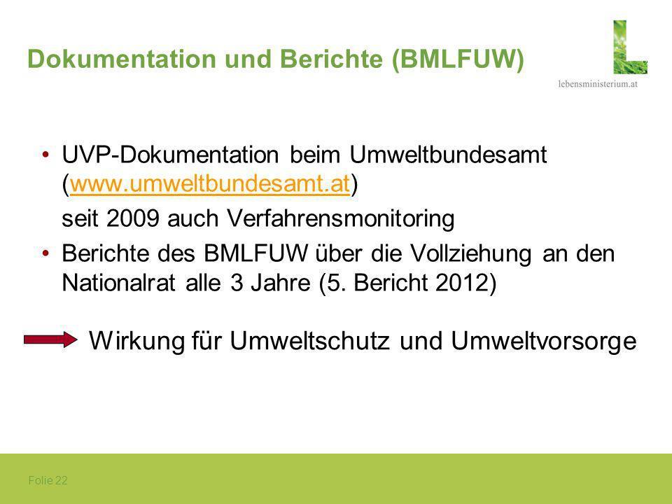 Dokumentation und Berichte (BMLFUW)