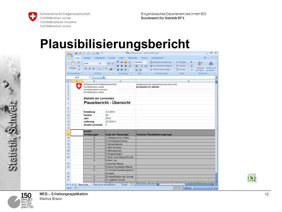 Plausibilisierungsbericht