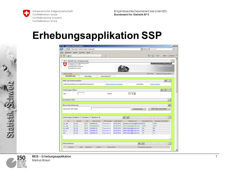 Erhebungsapplikation SSP