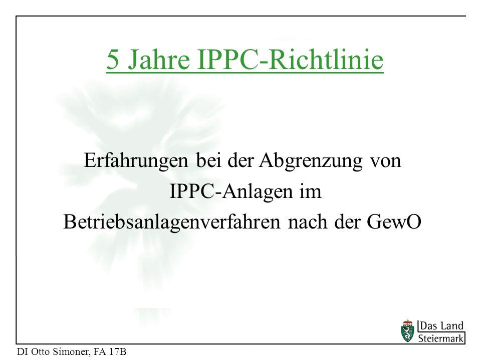 5 Jahre IPPC-Richtlinie