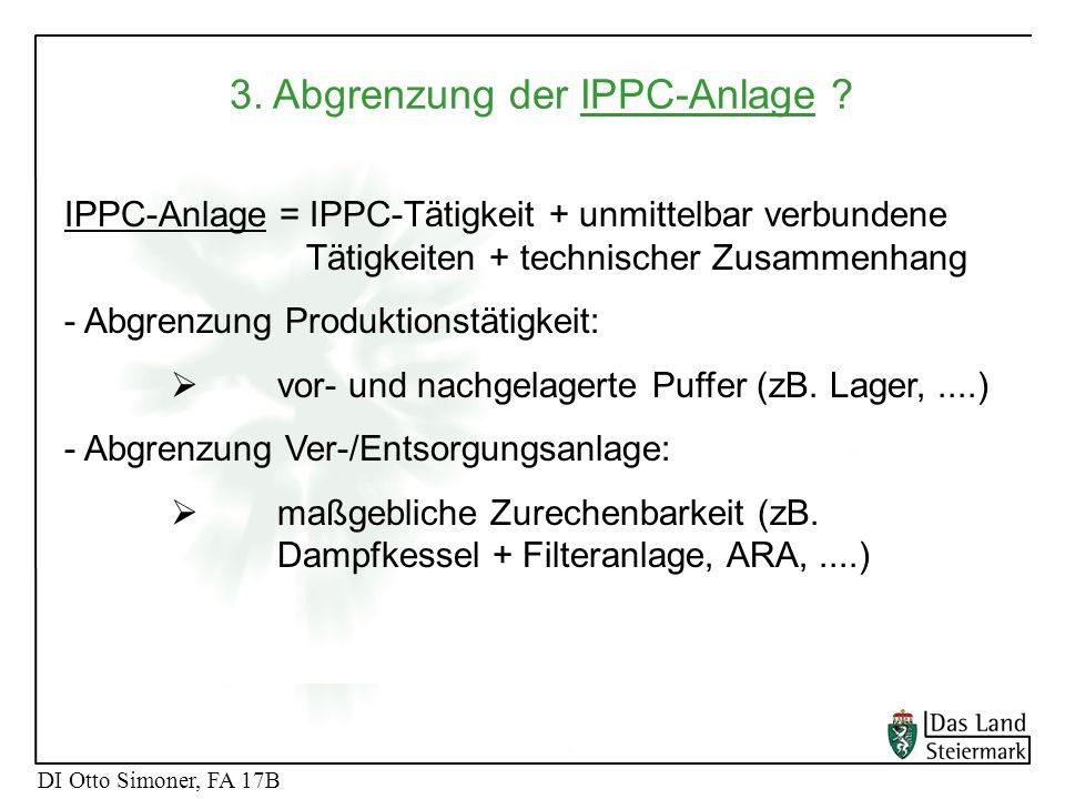 3. Abgrenzung der IPPC-Anlage