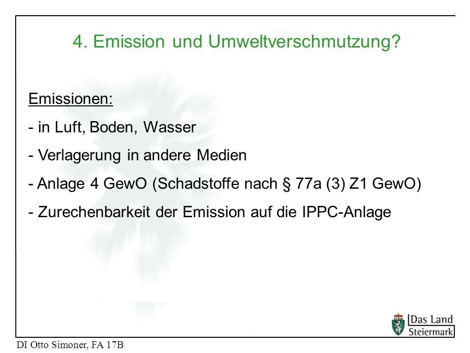 4. Emission und Umweltverschmutzung