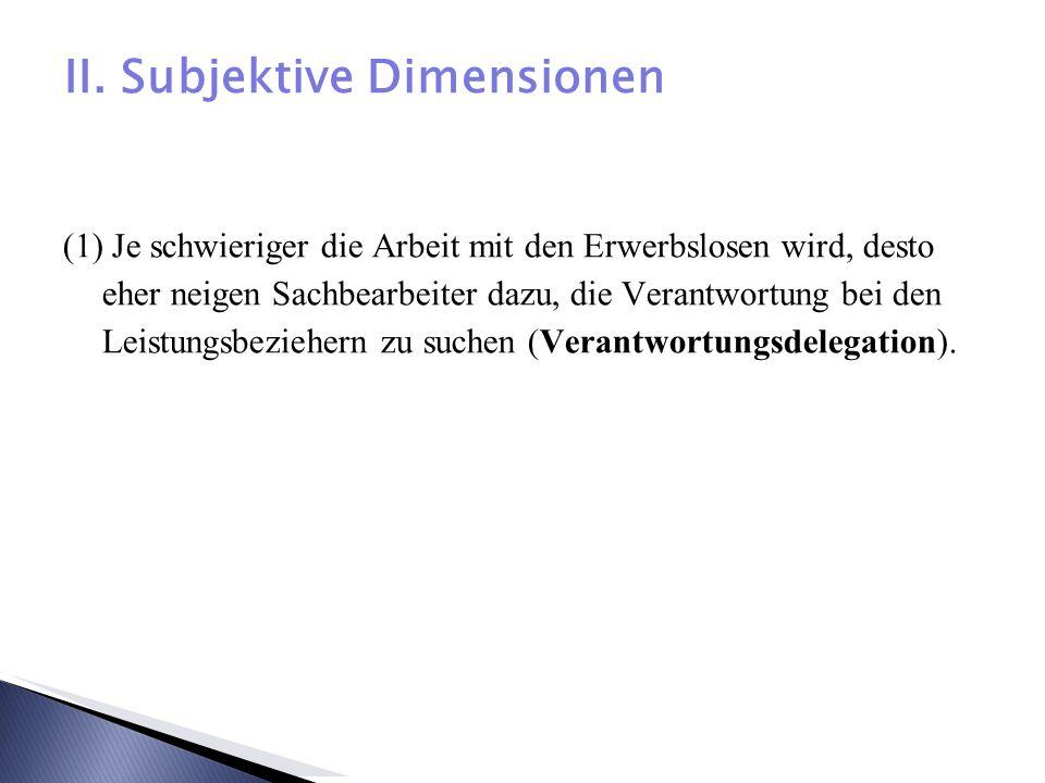 II. Subjektive Dimensionen