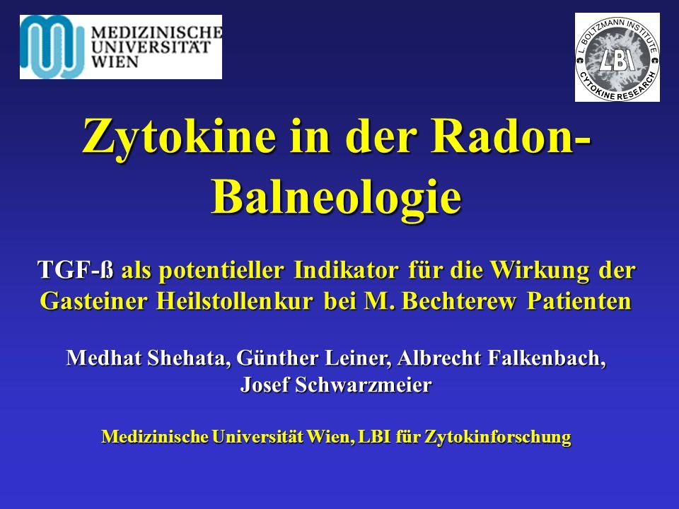 Zytokine in der Radon-Balneologie