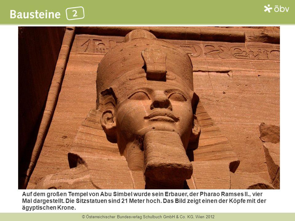 Auf dem großen Tempel von Abu Simbel wurde sein Erbauer, der Pharao Ramses II., vier Mal dargestellt.