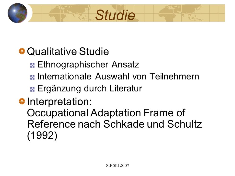 Studie Qualitative Studie