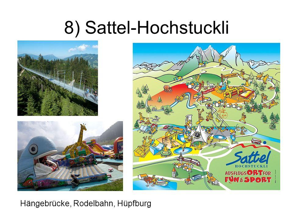 8) Sattel-Hochstuckli Hängebrücke, Rodelbahn, Hüpfburg