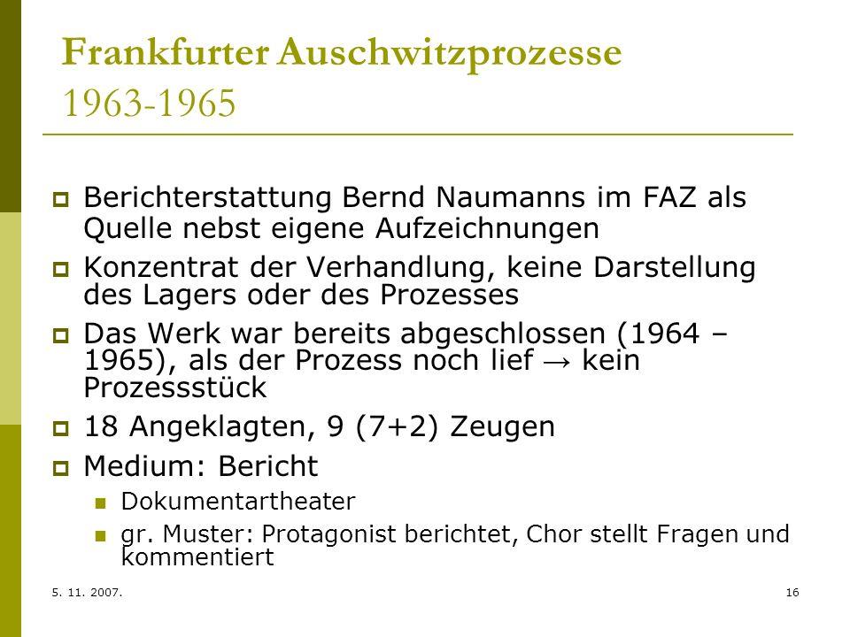 Frankfurter Auschwitzprozesse 1963-1965