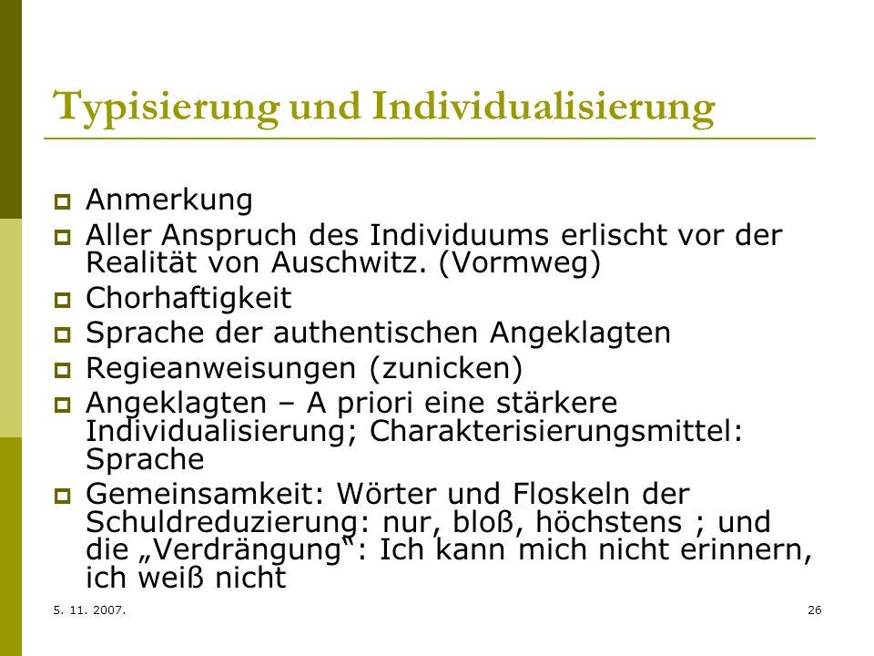 Typisierung und Individualisierung