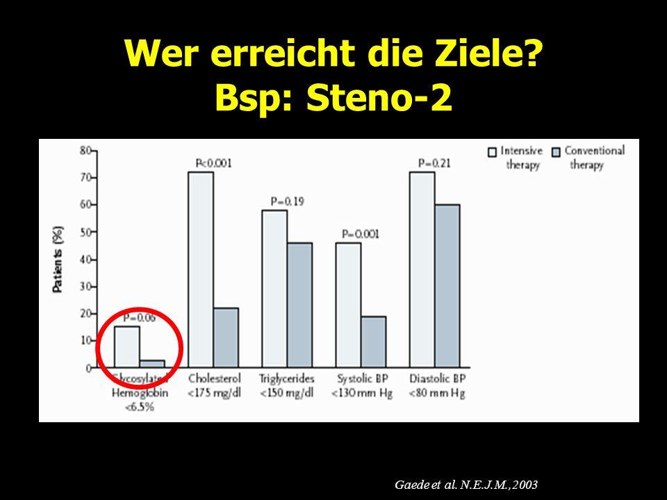 Wer erreicht die Ziele Bsp: Steno-2