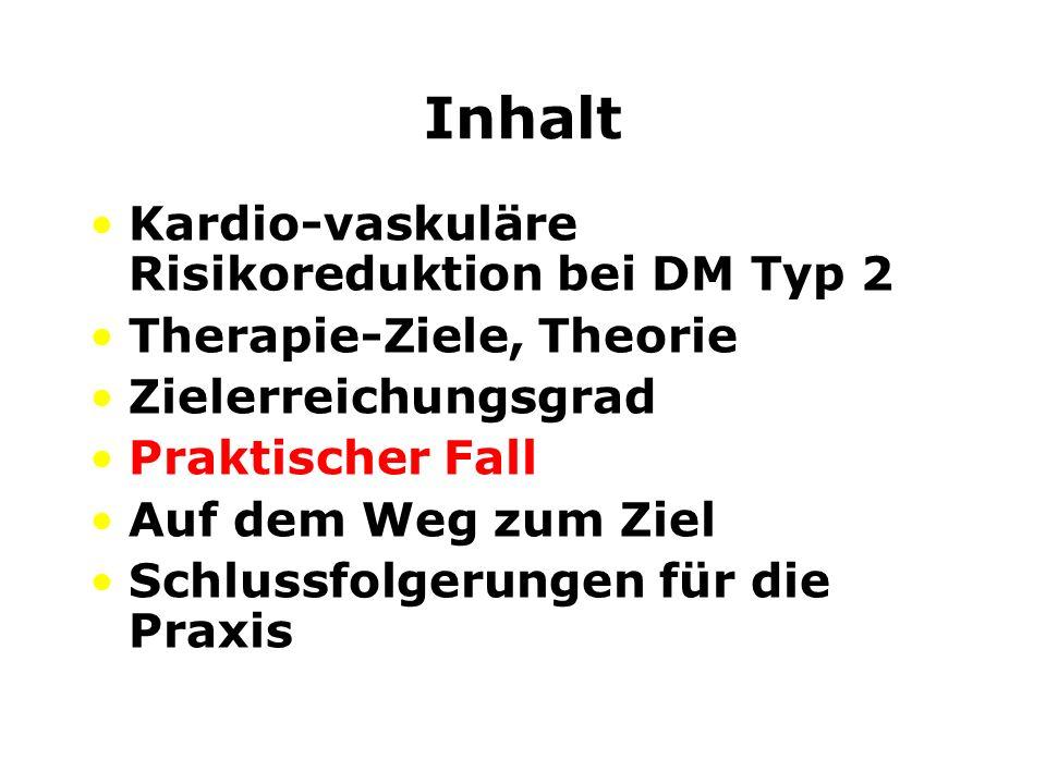 Inhalt Kardio-vaskuläre Risikoreduktion bei DM Typ 2