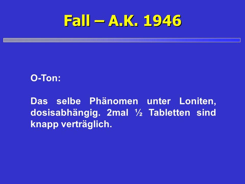 Fall – A.K. 1946 O-Ton: Das selbe Phänomen unter Loniten, dosisabhängig.