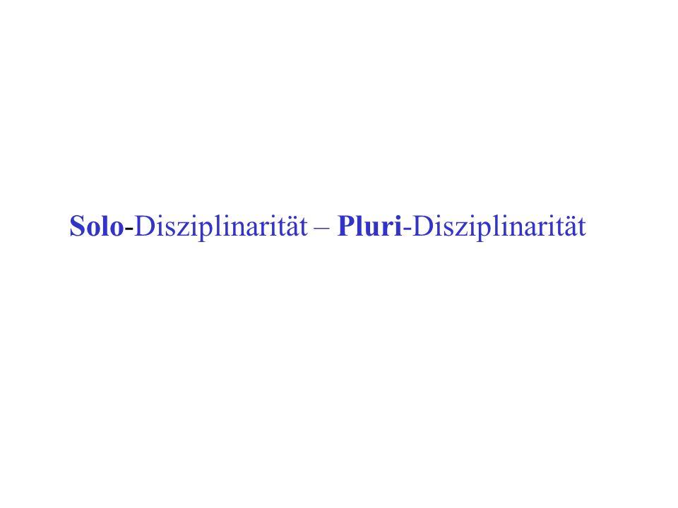 Solo-Disziplinarität – Pluri-Disziplinarität