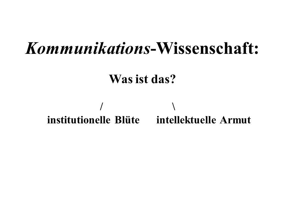 Kommunikations-Wissenschaft: