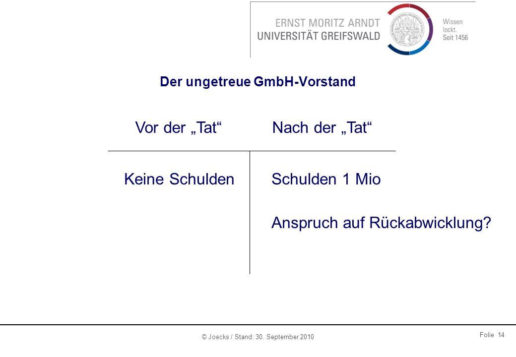 Der ungetreue GmbH-Vorstand