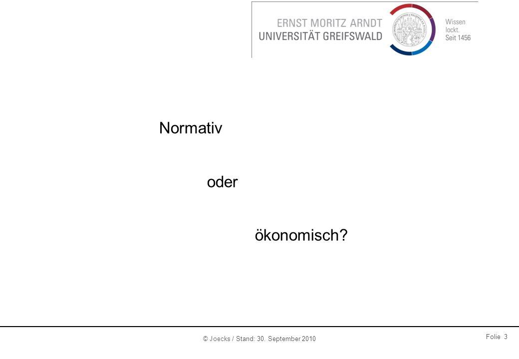Normativ oder ökonomisch