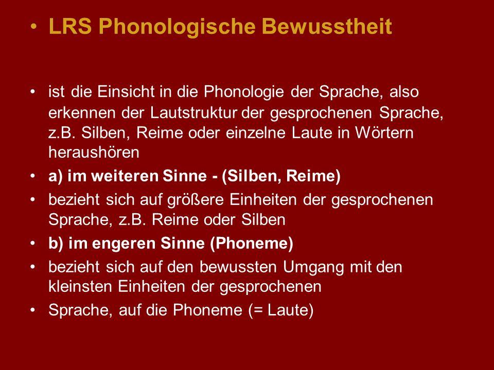 LRS Phonologische Bewusstheit