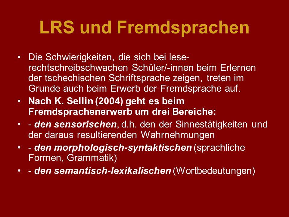 LRS und Fremdsprachen