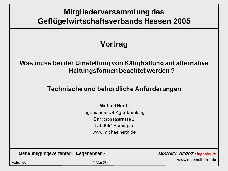 Mitgliederversammlung des Geflügelwirtschaftsverbands Hessen 2005