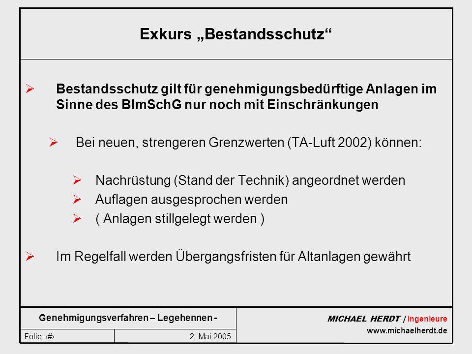 "Exkurs ""Bestandsschutz"