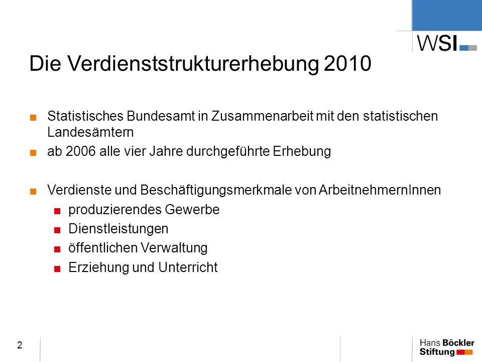 Die Verdienststrukturerhebung 2010