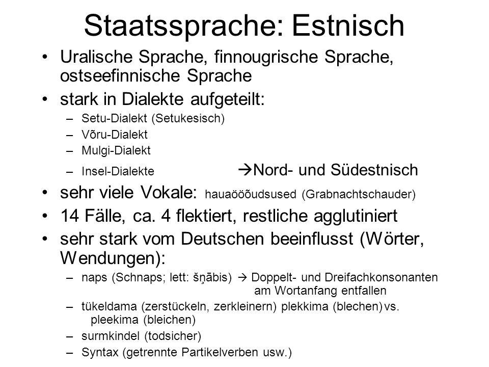 Staatssprache: Estnisch