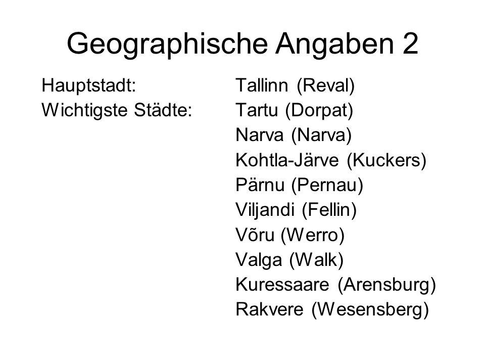 Geographische Angaben 2