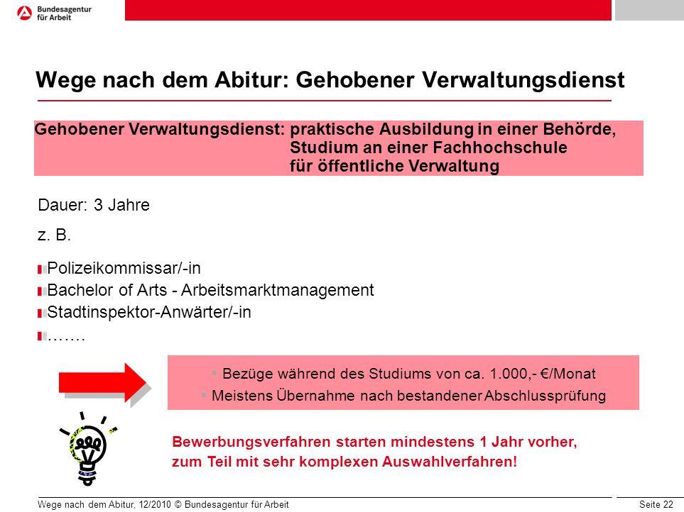 Wege nach dem Abitur: Gehobener Verwaltungsdienst