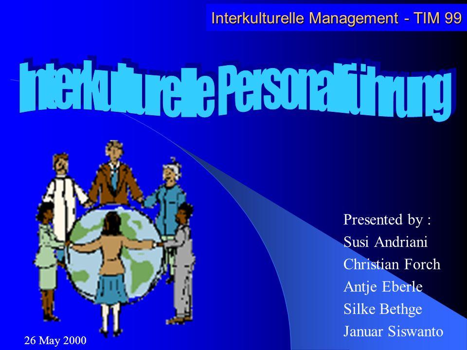 Interkulturelle Personalführung
