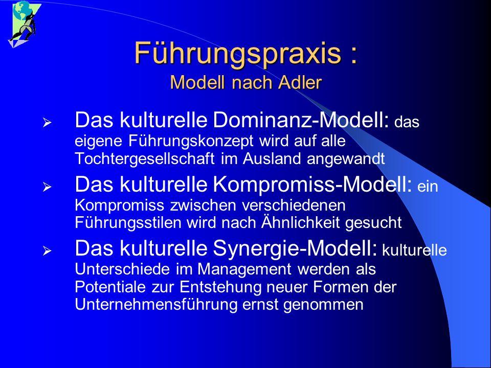 Führungspraxis : Modell nach Adler