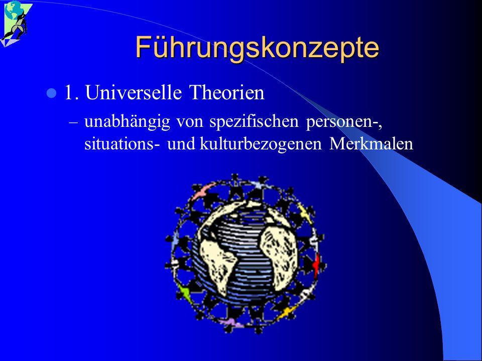 Führungskonzepte 1. Universelle Theorien
