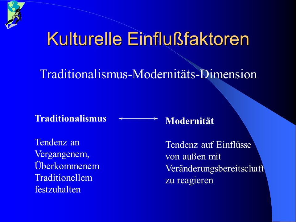 Kulturelle Einflußfaktoren