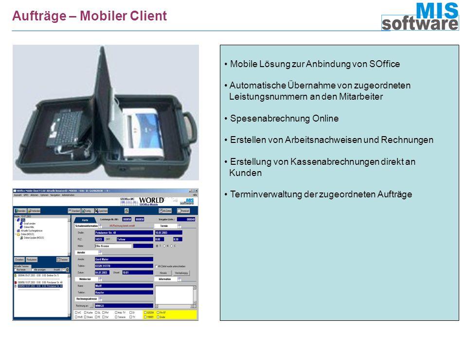 Aufträge – Mobiler Client