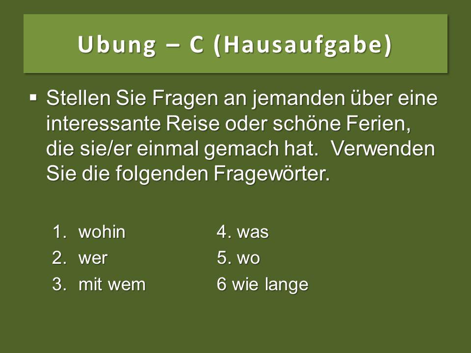 Ubung – C (Hausaufgabe)