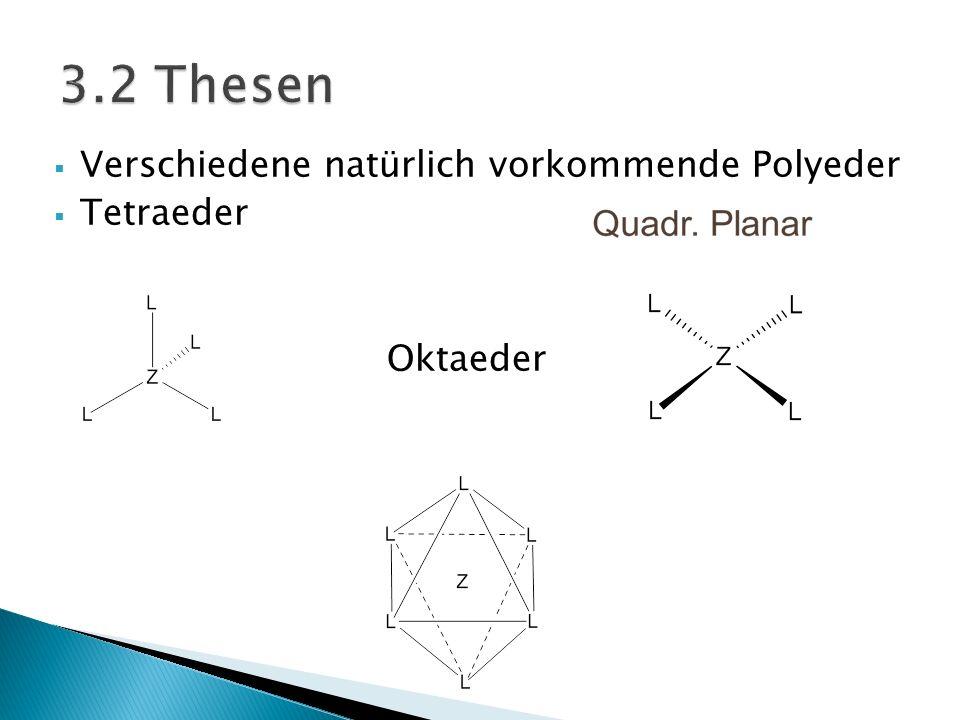 3.2 Thesen Verschiedene natürlich vorkommende Polyeder Tetraeder