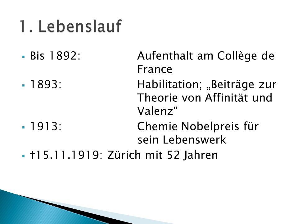 1. Lebenslauf Bis 1892: Aufenthalt am Collège de France