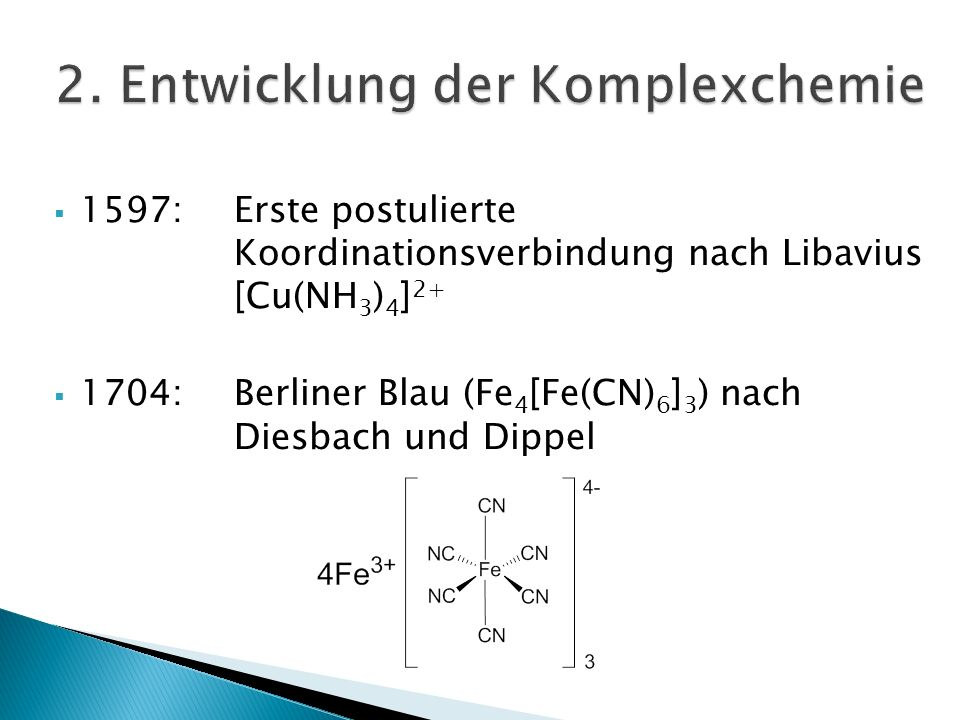 2. Entwicklung der Komplexchemie